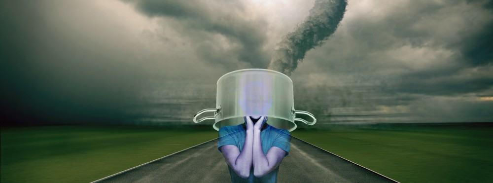 Comment traverser un ouragan la tête dans une casserole.