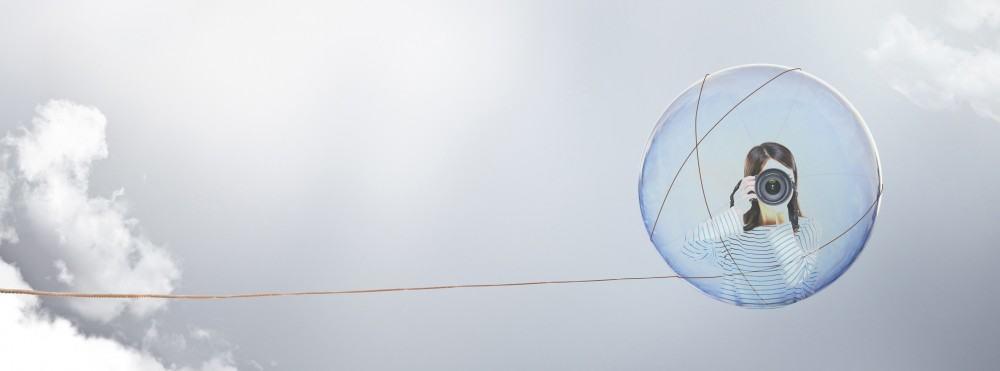 La bulle de savon qui ne voulait pas crever mais qui voulait quand même se balader.
