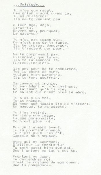 Poème Dune Autiste Asperger Solitude Au Royaume Dune